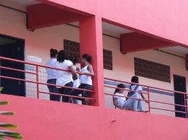 Schülerinnen der Technischen Schule Maria Eduarda Ramos de Barros
