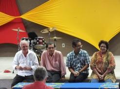 Zeitzeugen und Kooordinatoren des Geschichtsprojekts (v.l.n.r. Chico de Assis, Alberto Vinícius, Irageu Fonseca, Amparo Almeida Araújo)