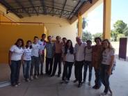 Die Jugendlichen mit den Koordinatoren und Zeitzugen des Projekts