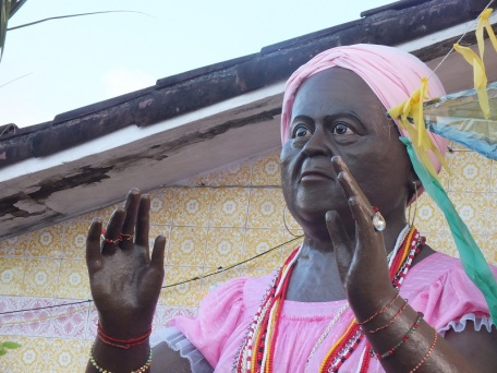 Coco festival at the terreiro de Xambá in Olinda, July 2014, figur/representation of Mãe Biu